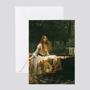 Lady of Shalott by JW Waterhouse Greeting Cards