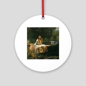 Lady of Shalott by JW Waterhouse Ornament (Round)
