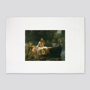 Lady of Shalott by JW Waterhouse 5'x7'Area Rug