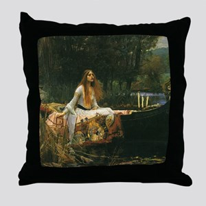 Lady of Shalott by JW Waterhouse Throw Pillow