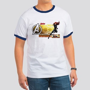 The Avengers Black Widow Action Ringer T