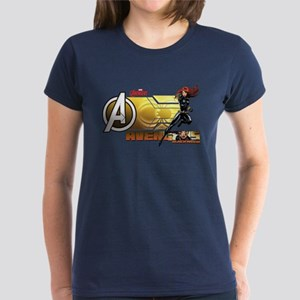 The Avengers Black Widow Acti Women's Dark T-Shirt