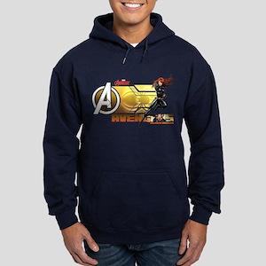 The Avengers Black Widow Action Hoodie (dark)