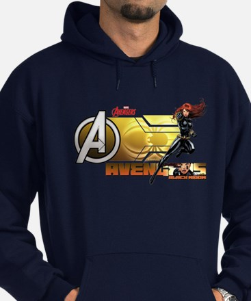 The Avengers Black Widow Action Hoodie (dark)