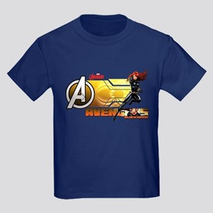 The Avengers Black Widow Action Kids Dark T-Shirt