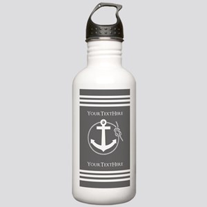 Gray and White Anchor Stainless Water Bottle 1.0L