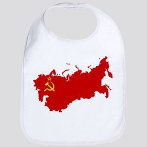 Red USSR Soviet Union map Communist Country Ru Bib