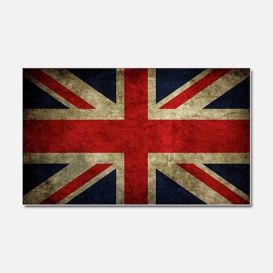 Grunge Flag Of England Car Magnet 20 x 12