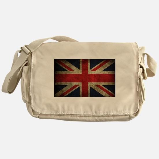 Grunge Flag Of England Messenger Bag
