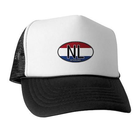 Netherlands Oval Colors Trucker Hat