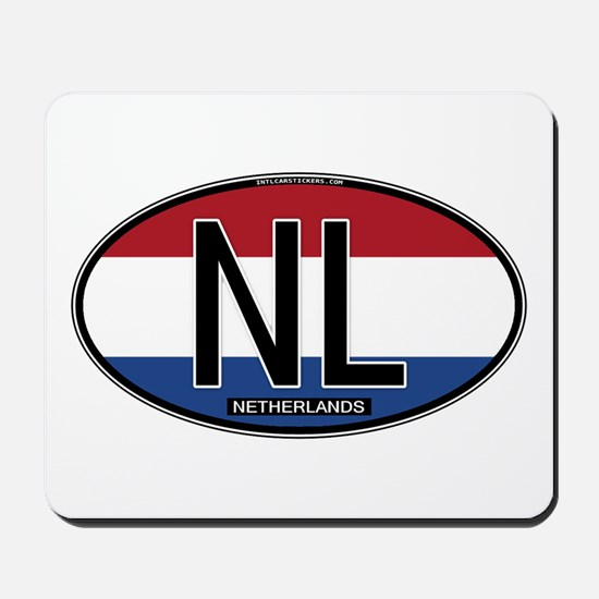 Netherlands Oval Colors Mousepad