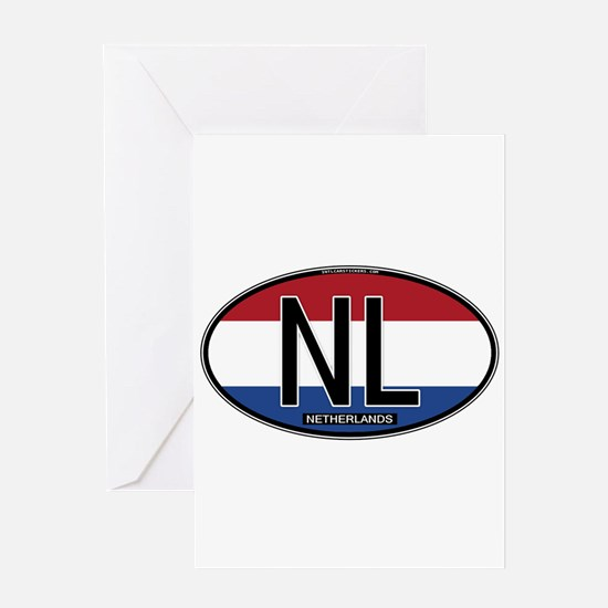 Netherlands Oval Colors Greeting Card