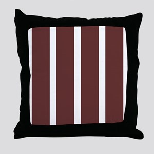 Big Brown Stripe Throw Pillow