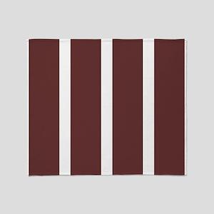 Big Brown Stripe Throw Blanket