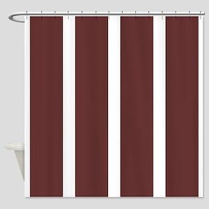 Big Brown Stripe Shower Curtain