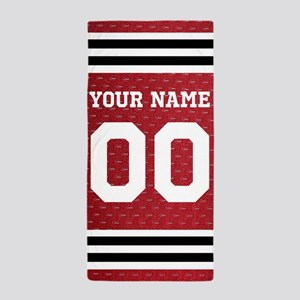 Personalized Sports Hoceky Beach Towel