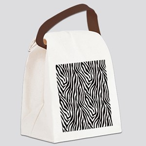 Zebra Canvas Lunch Bag