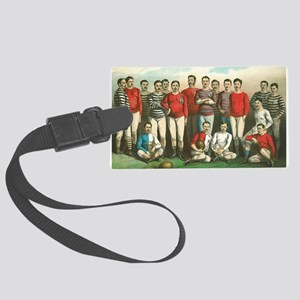 rugby art Luggage Tag