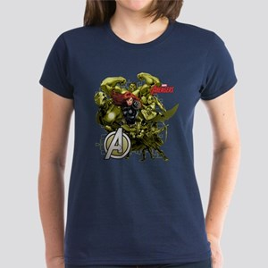 The Avengers Black Widow: Gre Women's Dark T-Shirt