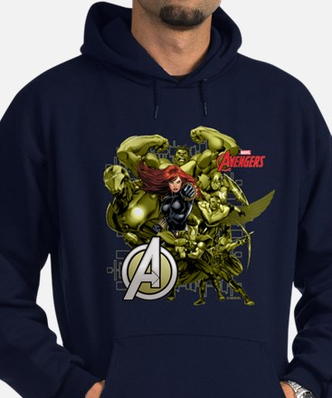 The Avengers Black Widow: Green Guys Hoodie (dark)