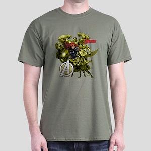 The Avengers Black Widow: Green Guys Dark T-Shirt