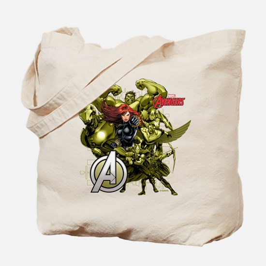 The Avengers Black Widow: Green Guys Tote Bag