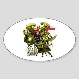 The Avengers Black Widow: Green Guy Sticker (Oval)