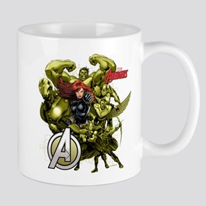 The Avengers Black Widow: Green Guys Mug