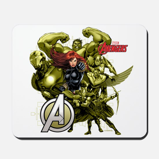 The Avengers Black Widow: Green Guys Mousepad