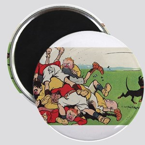 rugby art Magnets