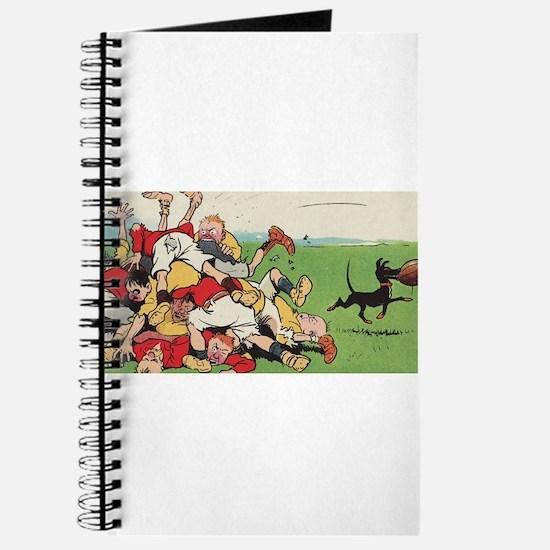 rugby art Journal
