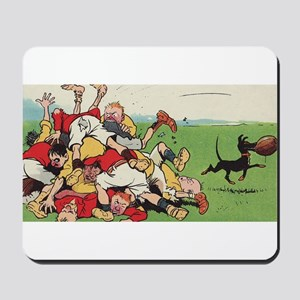 rugby art Mousepad