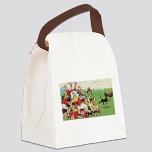 rugby art Canvas Lunch Bag