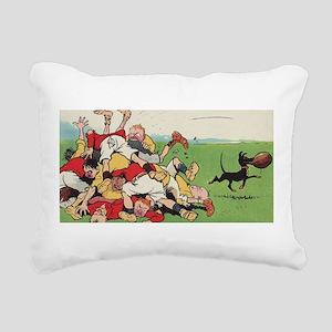 rugby art Rectangular Canvas Pillow