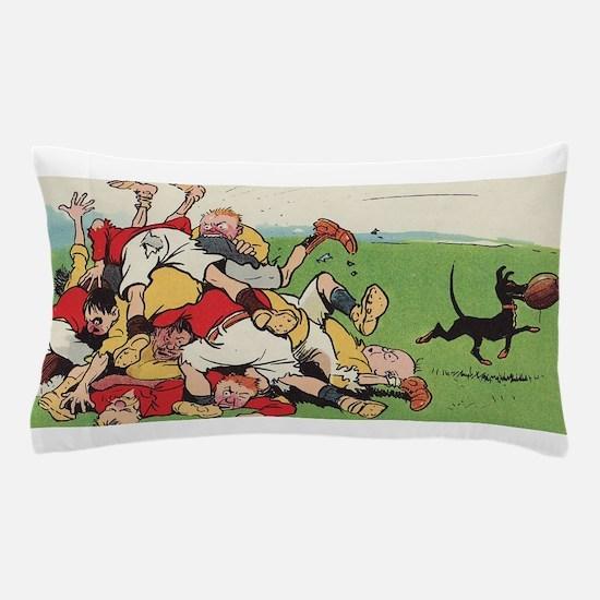 rugby art Pillow Case