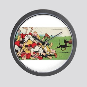 rugby art Wall Clock