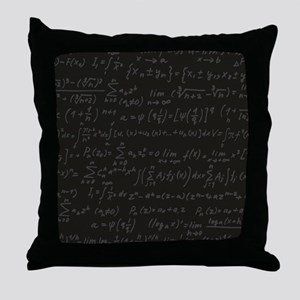 Scientific Formula On Blackboard Throw Pillow