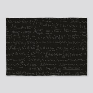 Scientific Formula On Blackboard 5'x7'Area Rug