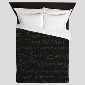 Scientific Formula On Blackboard Queen Duvet