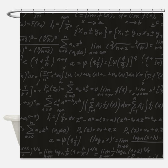 Scientific Formula On Blackboard Shower Curtain