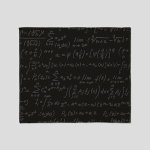 Scientific Formula On Blackboard Throw Blanket
