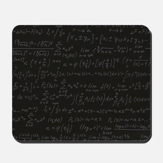 Scientific Formula On Blackboard Mousepad