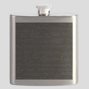 Scientific Formula On Blackboard Flask