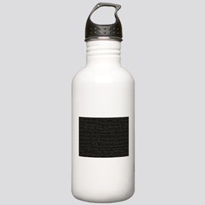Scientific Formula On Blackboard Water Bottle