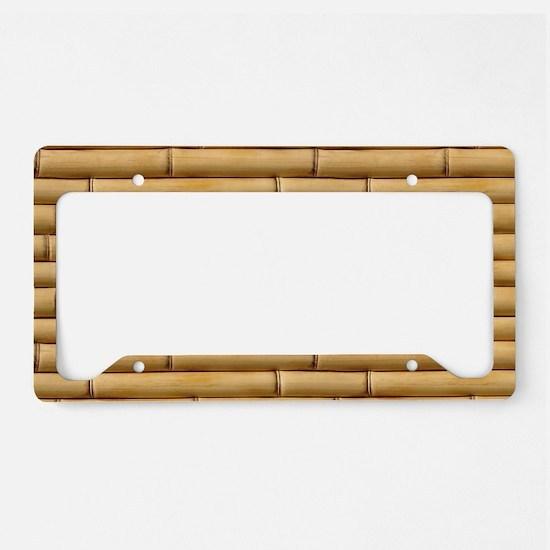 Bamboo Sticks License Plate Holder