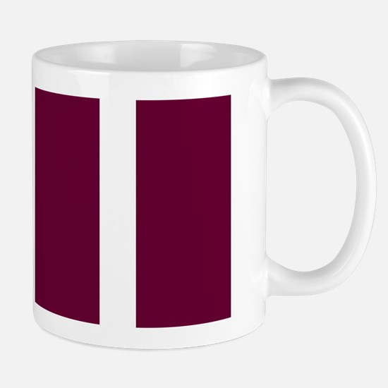 Bold Dark Red Stripe Mugs
