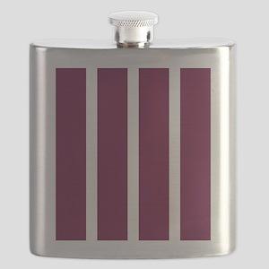 Bold Dark Red Stripe Flask