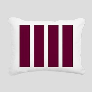 Bold Dark Red Stripe Rectangular Canvas Pillow