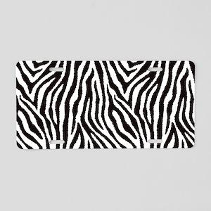 Zebra Aluminum License Plate
