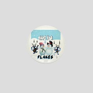 shake your flakes winter theme Mini Button